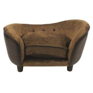 Enchanted pet Enchanted hondenmand sofa ultra pluche snuggle pebble bruin