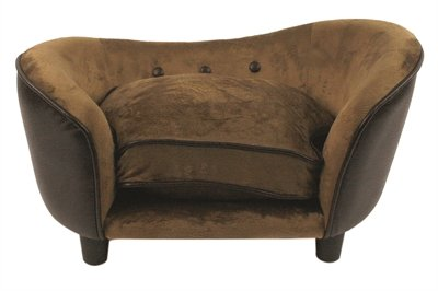 Enchanted hondenmand sofa ultra pluche snuggle pebble bruin 68x41x38 cm