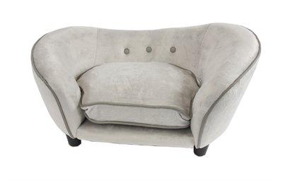 Enchanted hondenmand sofa ultra pluche snuggle lichtgrijs 68x41x38 cm