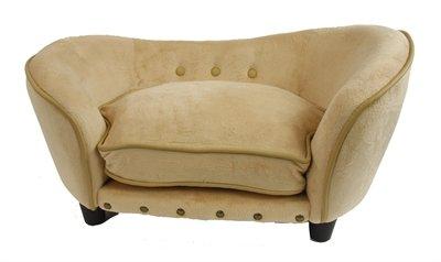 Enchanted hondenmand sofa ultra pluche snuggle caramel bruin 68x40,5x37,5 cm