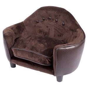 Enchanted pet Enchanted hondenmand sofa pluche pebble bruin