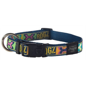 Rogz for dogs Rogz for dogs scooter halsband pop art navy