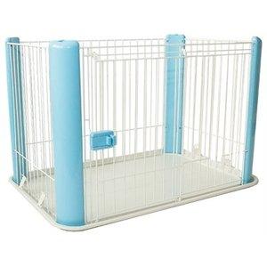 Merkloos Puppyren blauw zonder dak