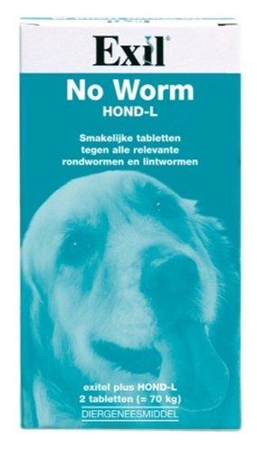 Exitel Plus XL voor honden vanaf 17,5 kg 2 Tabletten