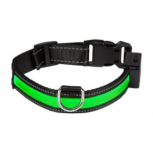 Eyenimal Eyenimal halsband usb licht groen / zwart