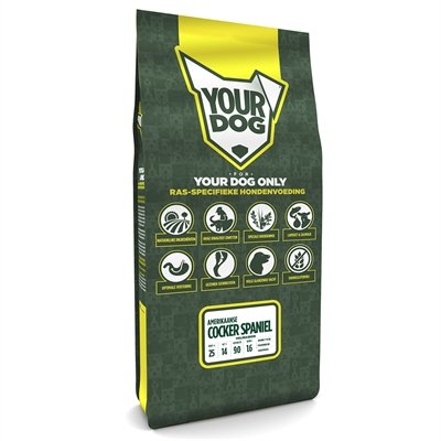 Volwassen 12 kg Yourdog amerikaanse cocker spaniã?l hondenvoer