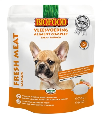 Biofood Vleesvoeding Zalm hondenvoer Per verpakking