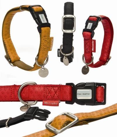 Afbeelding Macleather Hondenhalsband Met print Zwart 40 x 1,5 cm door Online-dierenwinkel.eu