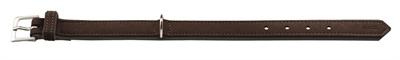 Hunter halsband voor hond softie kunstleder nubuck look bruin / zwart 18-24 cmx22 mm