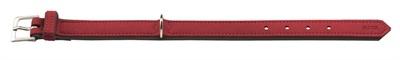 Hunter halsband voor hond softie kunstleder nubuck look rood / zwart 18-24 cmx22 mm