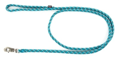Looplijn voor hond longe nylon reflecterend blauw 13 mmx200 cm