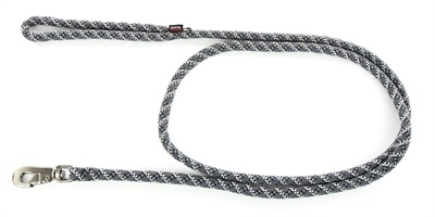 Looplijn voor hond longe nylon reflecterend grijs 13 mmx200 cm