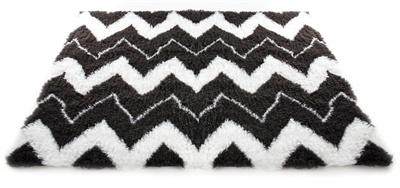 Vetbed ethnic zwart / wit 50x75 cm