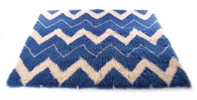 Vetbed ethnic blauw / beige 50x75 cm