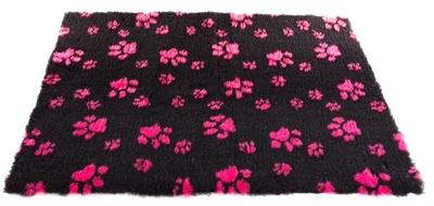 Vetbed poot zwart / roze 50x75 cm