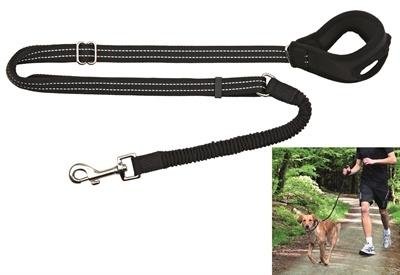 Trixie Jogginglijn - Hondenhardlooplijn - 90-130x2.0 cm Zwart