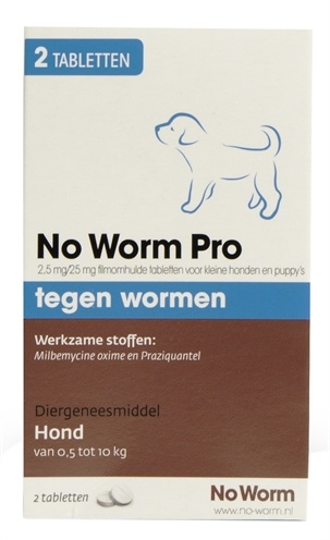 Exitel Plus voor honden vanaf 0,5 kg 2 Tabletten