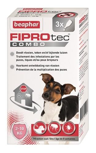Beaphar FiproTec Combo hond 2-10 kg Anti-Vlo Per stuk