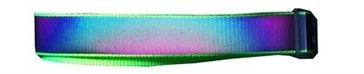 Go walk halsband voor hond reflecterend met led regenboog 50-60 cm
