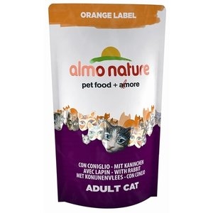 Almo Almo nature cat droog orange label konijn