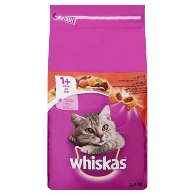 Afbeelding Whiskas Brokjes +1 Rund kattenvoer 3.8 kg door Online-dierenwinkel.eu