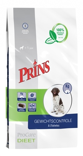 Prins Procare Dieet Gewichtscontole & Diabetes hondenvoer 3 kg