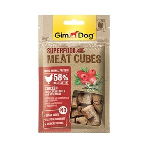 Gimdog Gimdog superfood meat cubes kip / cranberry / rozemarijn