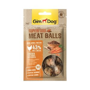 Gimdog Gimdog superfood meat balls kip / wortel / lijnzaad