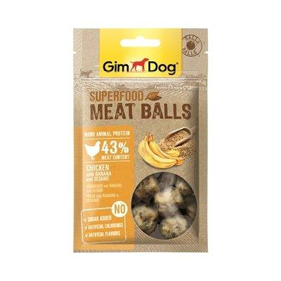 Gimdog Gimdog superfood meat balls kip / banaan / sesam