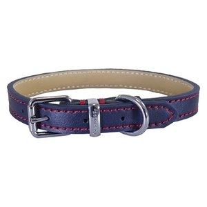 Rosewood Rosewood halsband hond leer donkerblauw