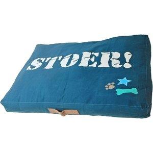 Lief! Lief! hondenkussen lounge stoer blauw