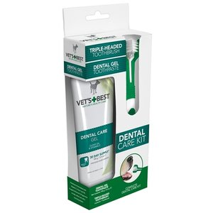 Vets best Vets best dental gel met tandenborstel kit