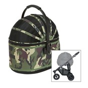 Airbuggy Airbuggy hondenbuggy cot s plus met rem camouflage