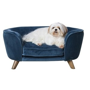 Enchanted pet Enchanted hondenmand / sofa romy peacock blauw