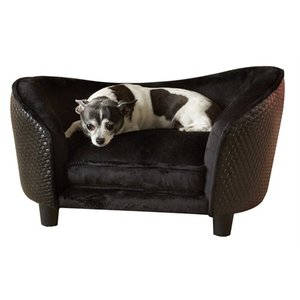 Enchanted pet Enchanted hondenmand sofa ultra pluche snuggle wicker bruin
