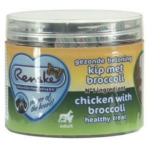 Renske Renske hond gezonde beloning mini hartjes kip / broccoli
