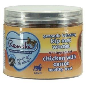 Renske Renske hond gezonde beloning mini hartjes kip / wortel