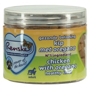 Renske Renske hond gezonde beloning mini hartjes kip / oregano