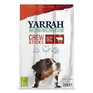Yarrah Zzzyarrah biologische kauwstaafjes hond rund met zeewier en spirulina
