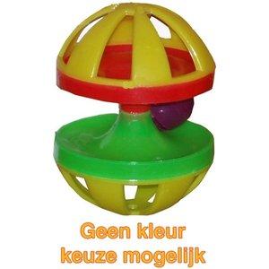 Merkloos Plastic knaagdierspeelgoed met bel