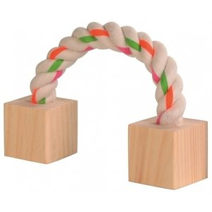 Trixie Trixie speeltouw met hout