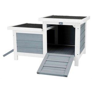 Trixie Trixie knaagdierhuis met 2 ingangen grijs / wit