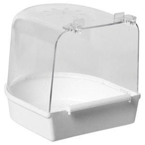 Merkloos Vogelbad groot model wit