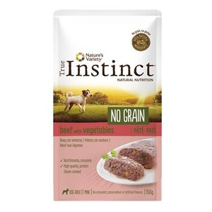 True instinct True instinct pouch no grain mini adult beef pate