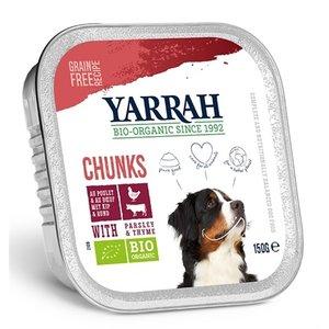 Yarrah Yarrah dog alu brokjes rund met peterselie / tijm in saus graanvrij