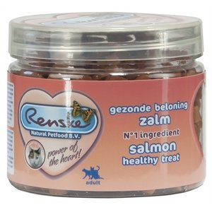 Renske Renske kat gezonde beloning mini hartjes zalm
