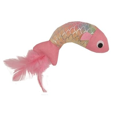 Happy pet Happy pet mermaid vis met veren roze