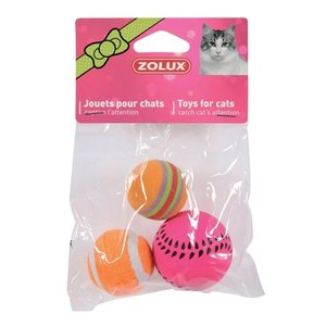 Zolux Zolux kattenspeelgoed ballen assorti