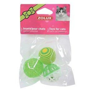 Zolux Zolux kattenspeelgoed ballen groen