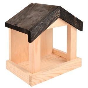 Merkloos Voederhuis voor aan de muur hout
